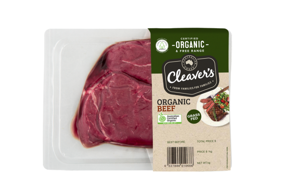 Cleaver's Organic Beef Rump Steak